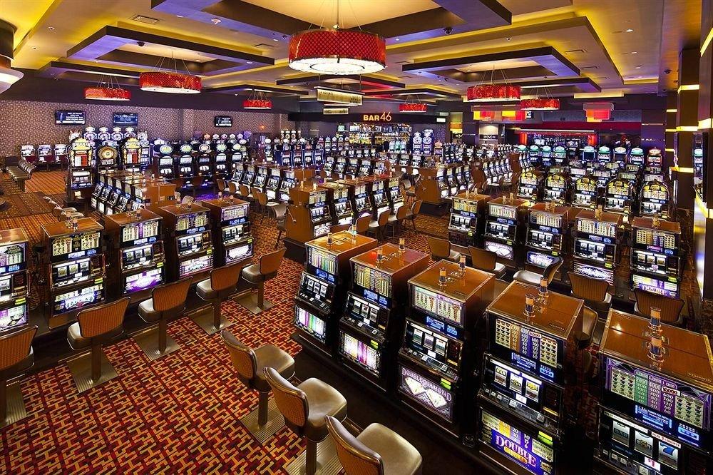 Casino Resort building liquor store shelf