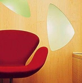 color red lighting light fixture shape circle chair