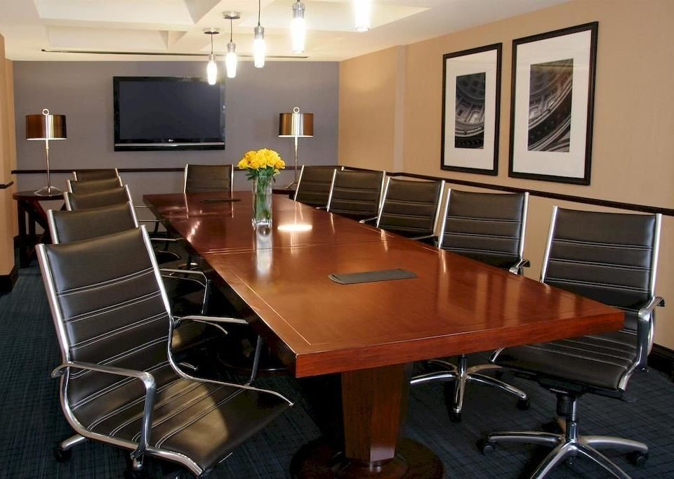chair property conference hall office classroom metal leather dining table