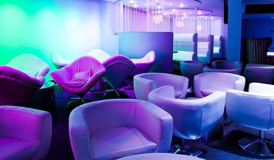 chair pink nightclub purple set colored