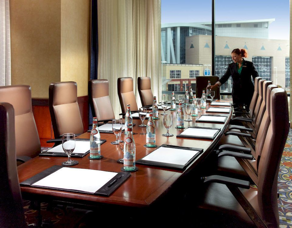 chair restaurant function hall conference hall conference room dining table