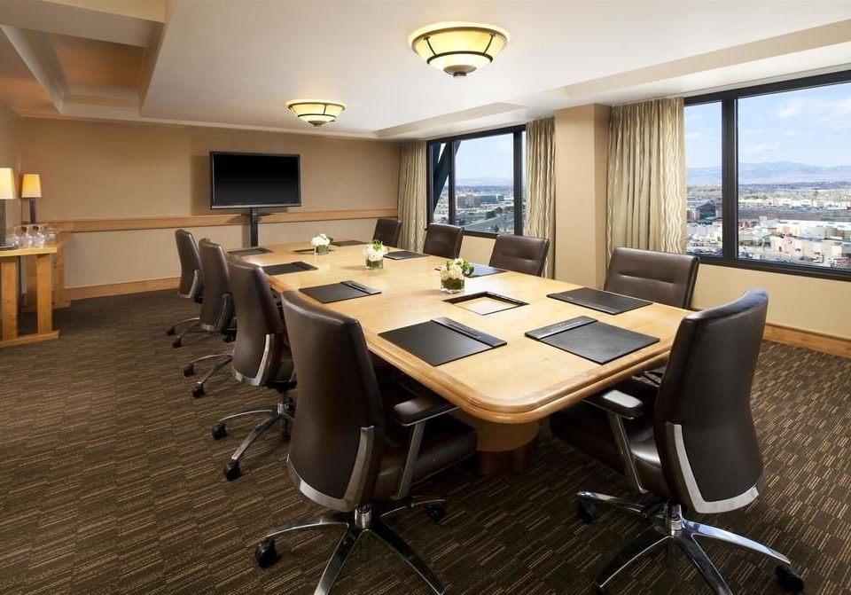 chair property conference hall office conference room dining table