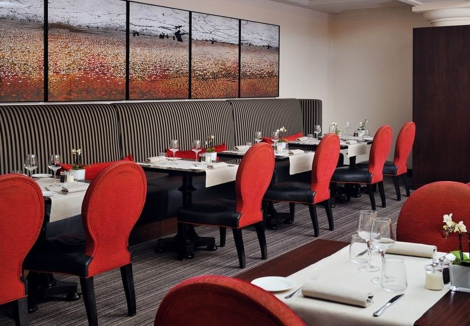 chair restaurant red conference hall function hall dining table