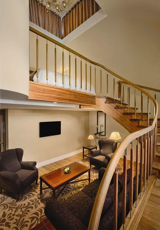 chair stairs property house home hardwood living room cottage farmhouse