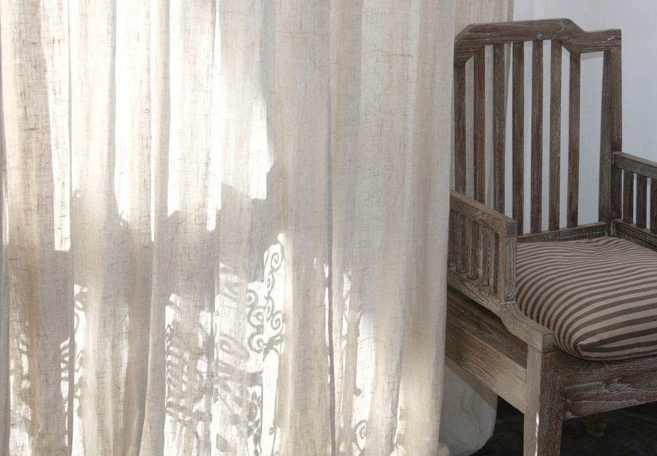 curtain textile wooden chair window treatment