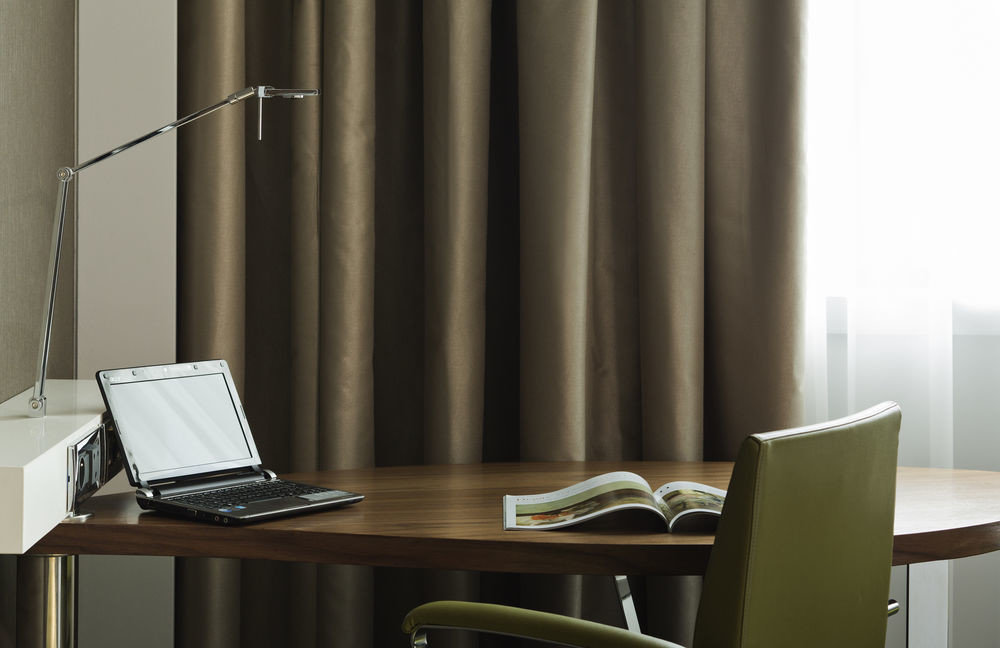 chair desk lighting window treatment office dining table