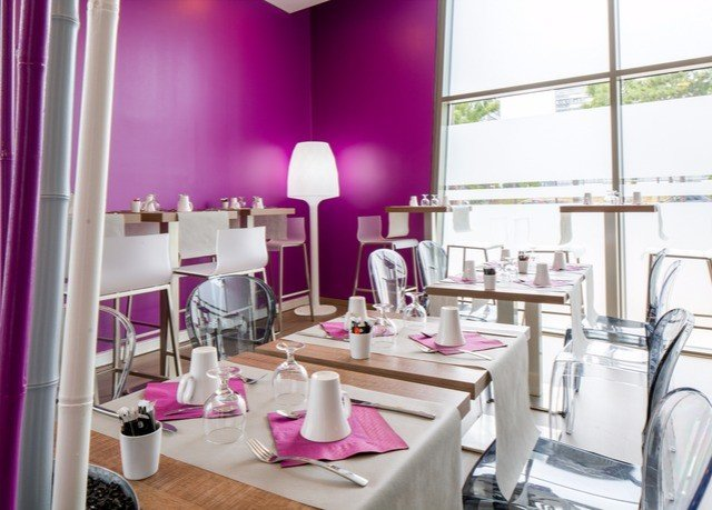 restaurant purple function hall chair interior designer