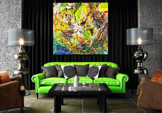 chair living room green modern art screenshot wallpaper leather lamp
