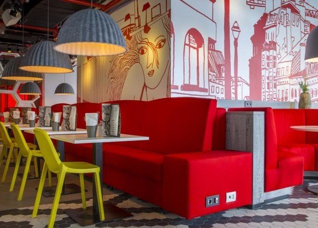 chair red living room restaurant seat