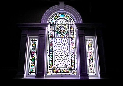 stained glass glass material place of worship symmetry chapel