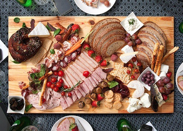food meat different items charcuterie grilling cuisine sense variety
