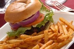 fries food plate sandwich french fries hamburger fast food snack food lunch cheeseburger meat steak frites junk food fast food restaurant cuisine