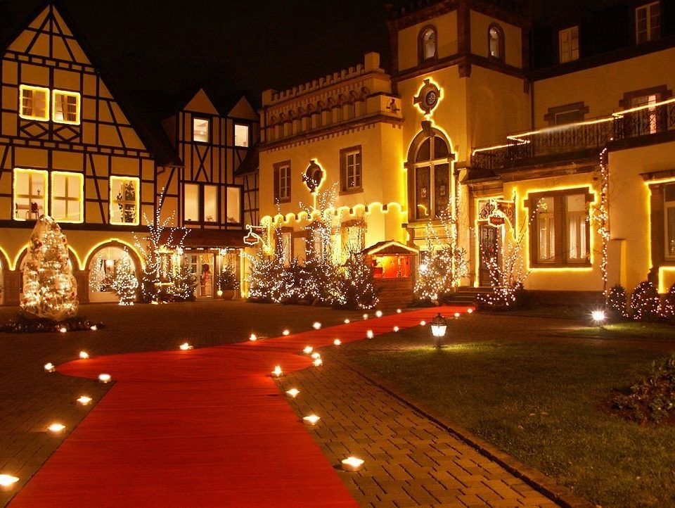 night christmas lights light christmas decoration evening Christmas lighting landscape lighting