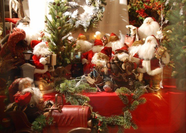 tree santa claus Christmas christmas decoration red event Christmas tree plant holiday altar dining table