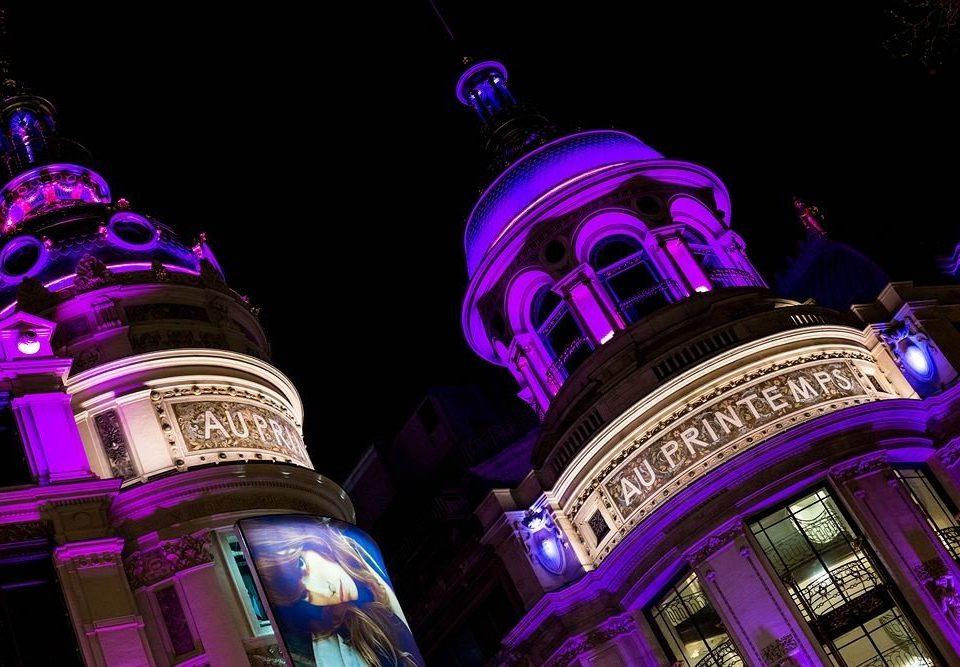 purple night light darkness lighting christmas lights neon colored