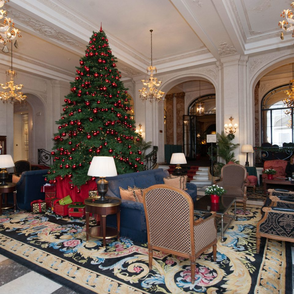 Lobby living room home Christmas palace rug mansion