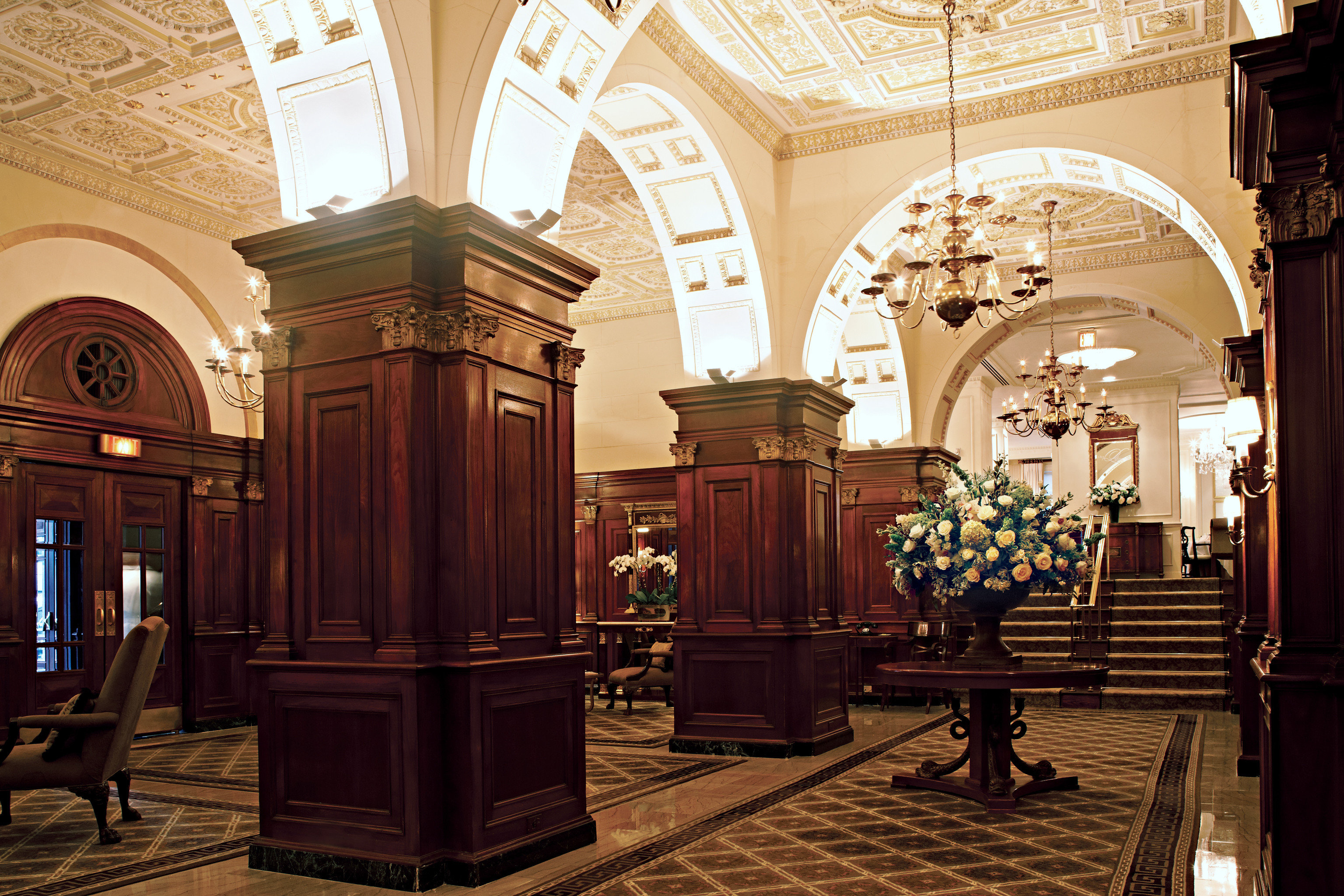 Lobby Lounge chapel Church place of worship synagogue hall ballroom colonnade