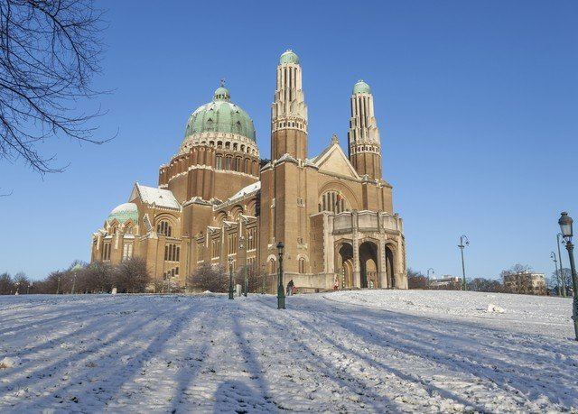 sky snow Winter building weather place of worship season cathedral Church monastery day