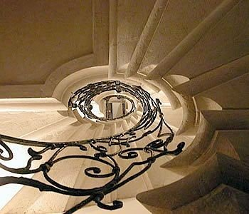 light daylighting lighting stairs spiral circle symmetry flooring step