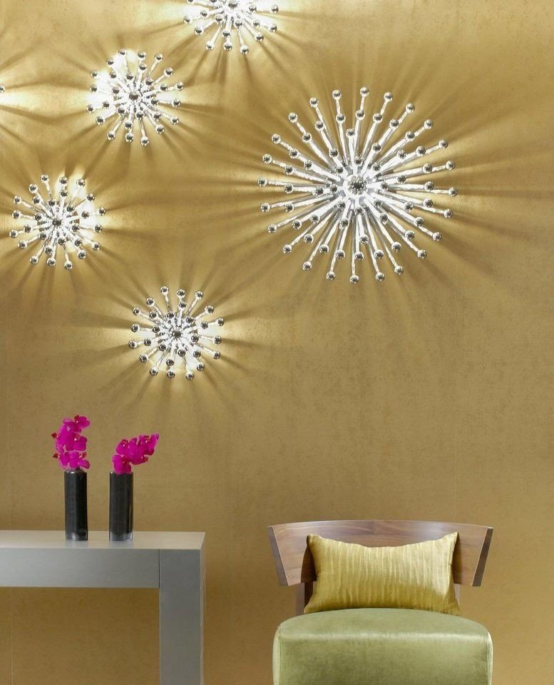 modern art lighting wallpaper circle decor