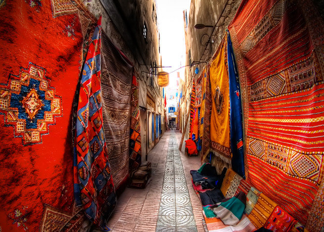 color red road City way street alley bazaar art market infrastructure temple colorful travel sidewalk