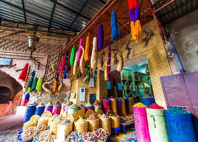 color market City bazaar public space temple tradition colorful stall travel colored