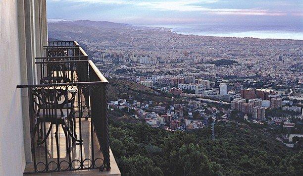 mountain sky City building metropolis skyline skyscraper panorama overlooking