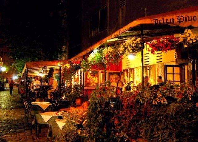 night christmas decoration restaurant City way