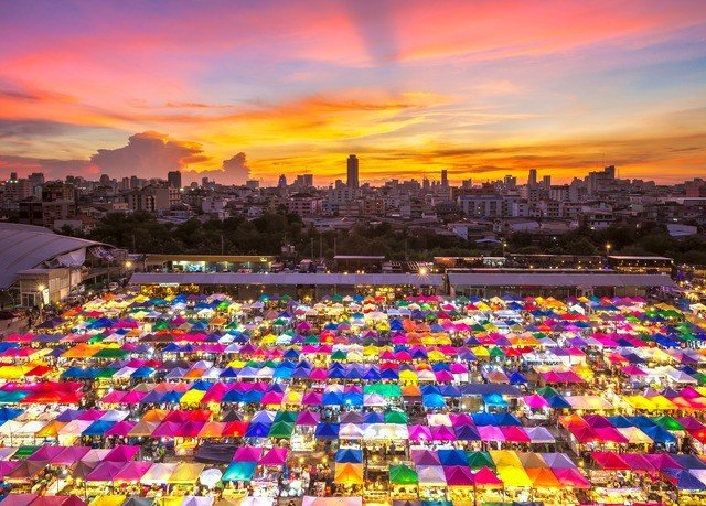 sky colorful City cityscape colored flower skyline colors