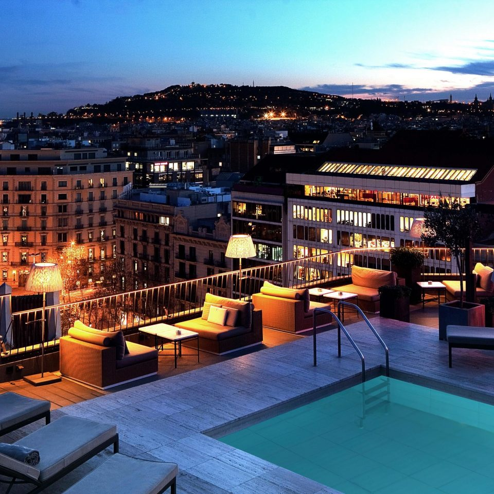 City Classic Elegant Pool Romantic Rooftop sky evening cityscape Resort