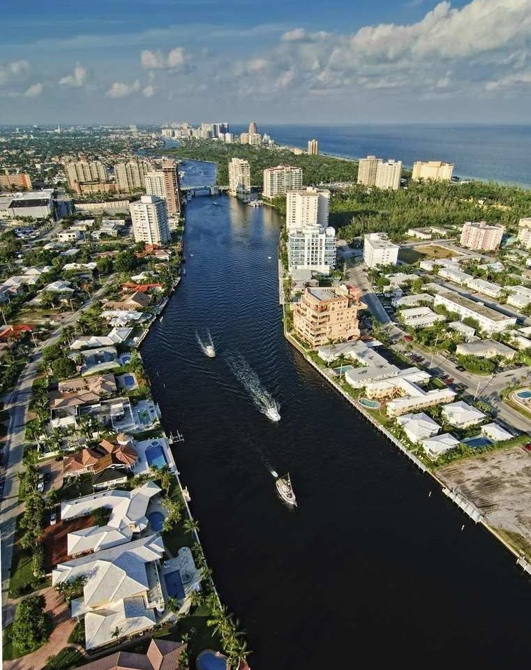 aerial photography River Coast Town City Sea cityscape waterway marina dock bird's eye view walkway tower Harbor
