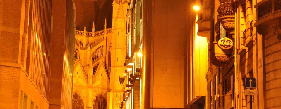 color yellow night street light evening sunlight temple City organ