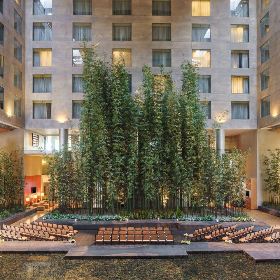 building condominium plaza Courtyard apartment building City water feature