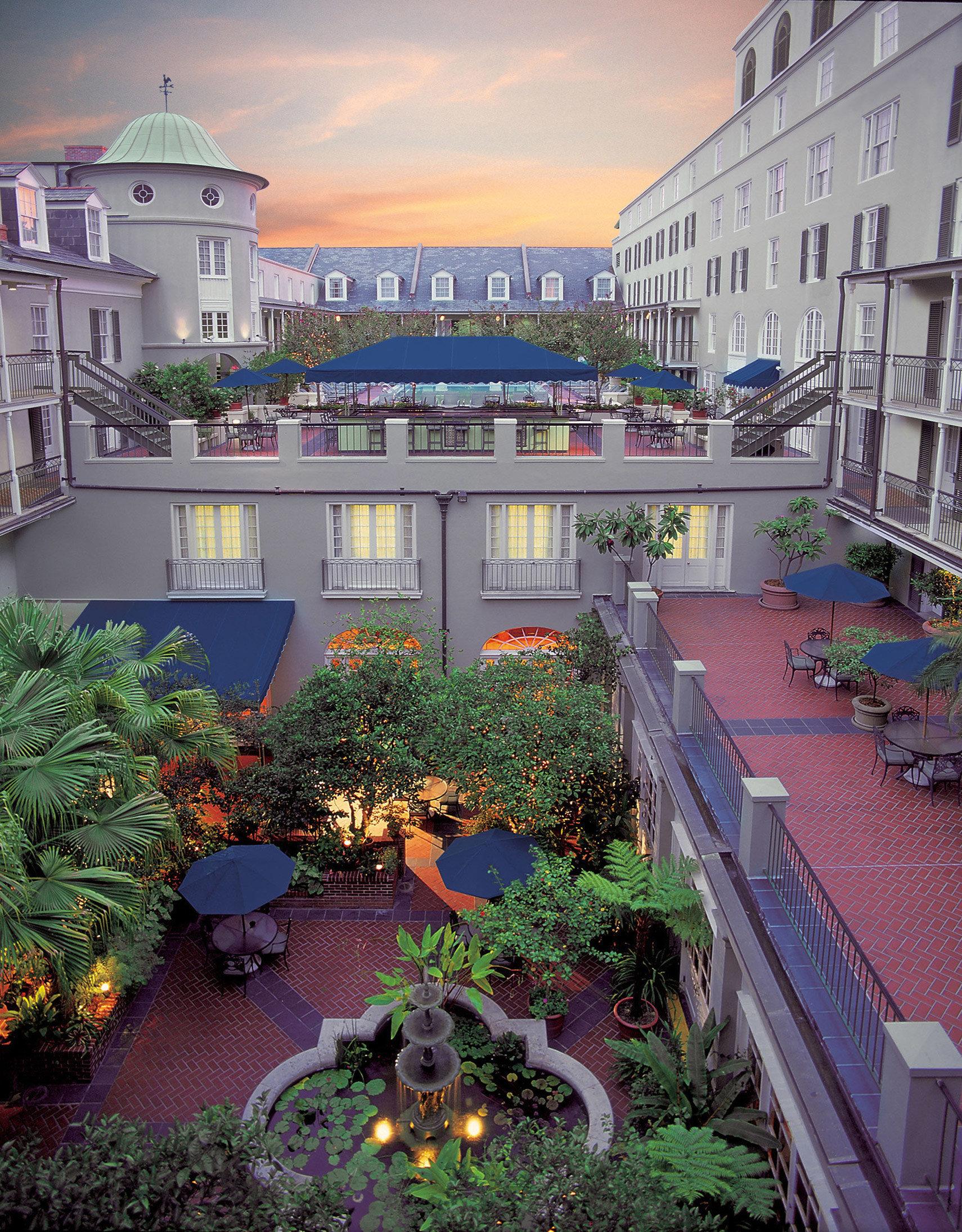 City neighbourhood condominium plaza waterway Resort cityscape Courtyard walkway flower Garden