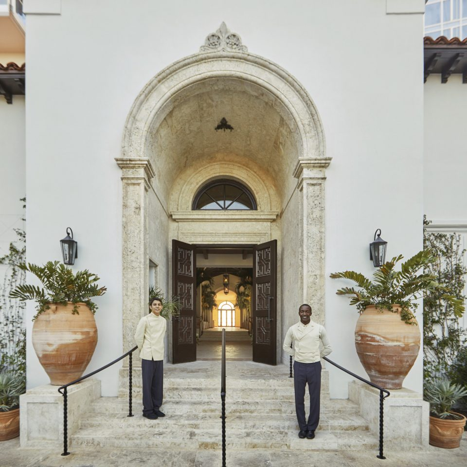 City Hotels Luxury Miami Miami Beach arch Courtyard building place of worship door