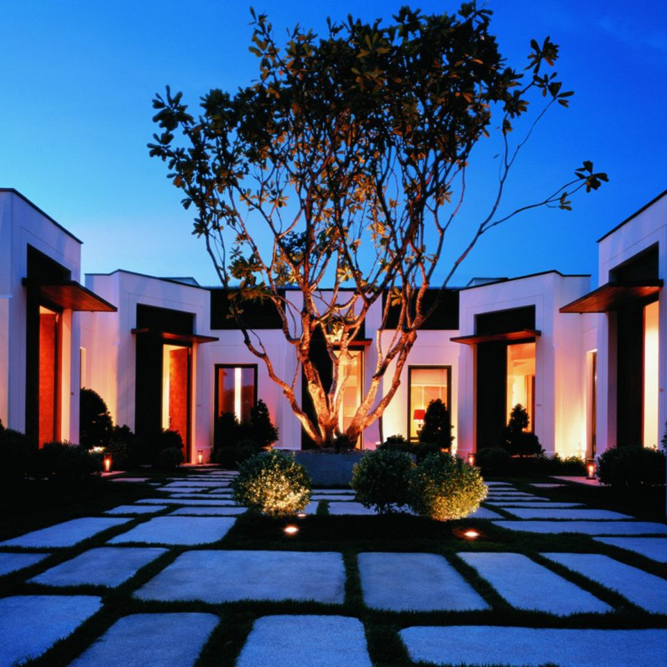 City Courtyard sky building house home Resort landscape lighting lighting evening mansion hacienda Villa