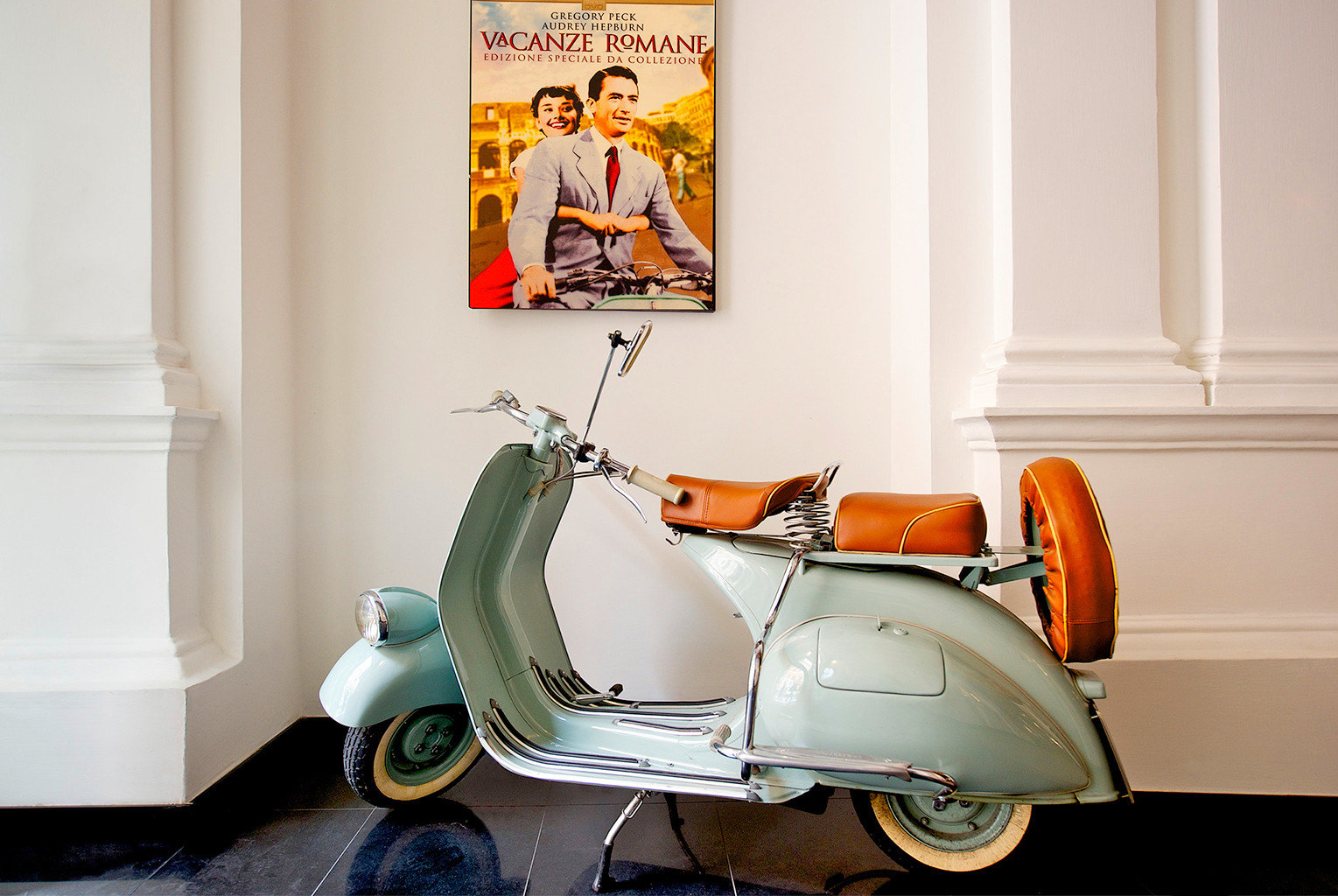 City Cultural Lobby scooter vespa parked