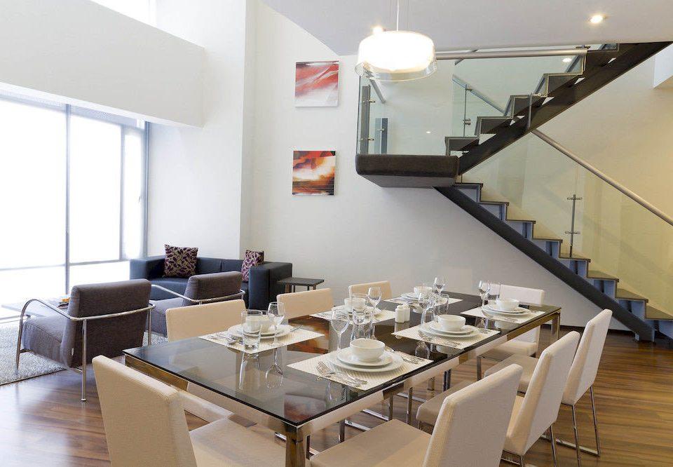 City Dining property counter condominium living room restaurant loft