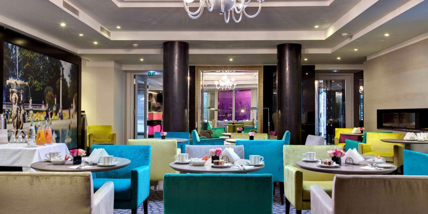 City Dining Drink Eat Hip Modern restaurant home Lobby living room function hall Resort Island