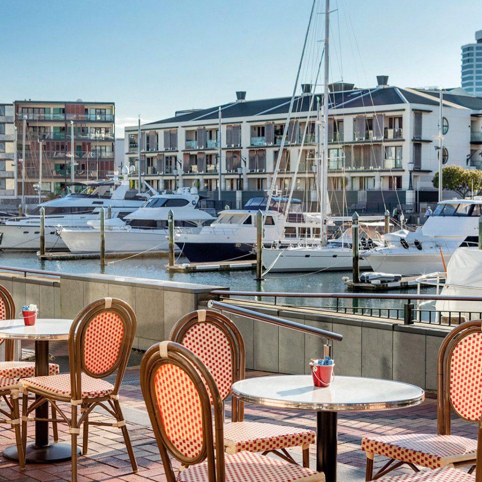 City Dining Drink Eat Modern sky ground chair marina dock vehicle Resort condominium restaurant