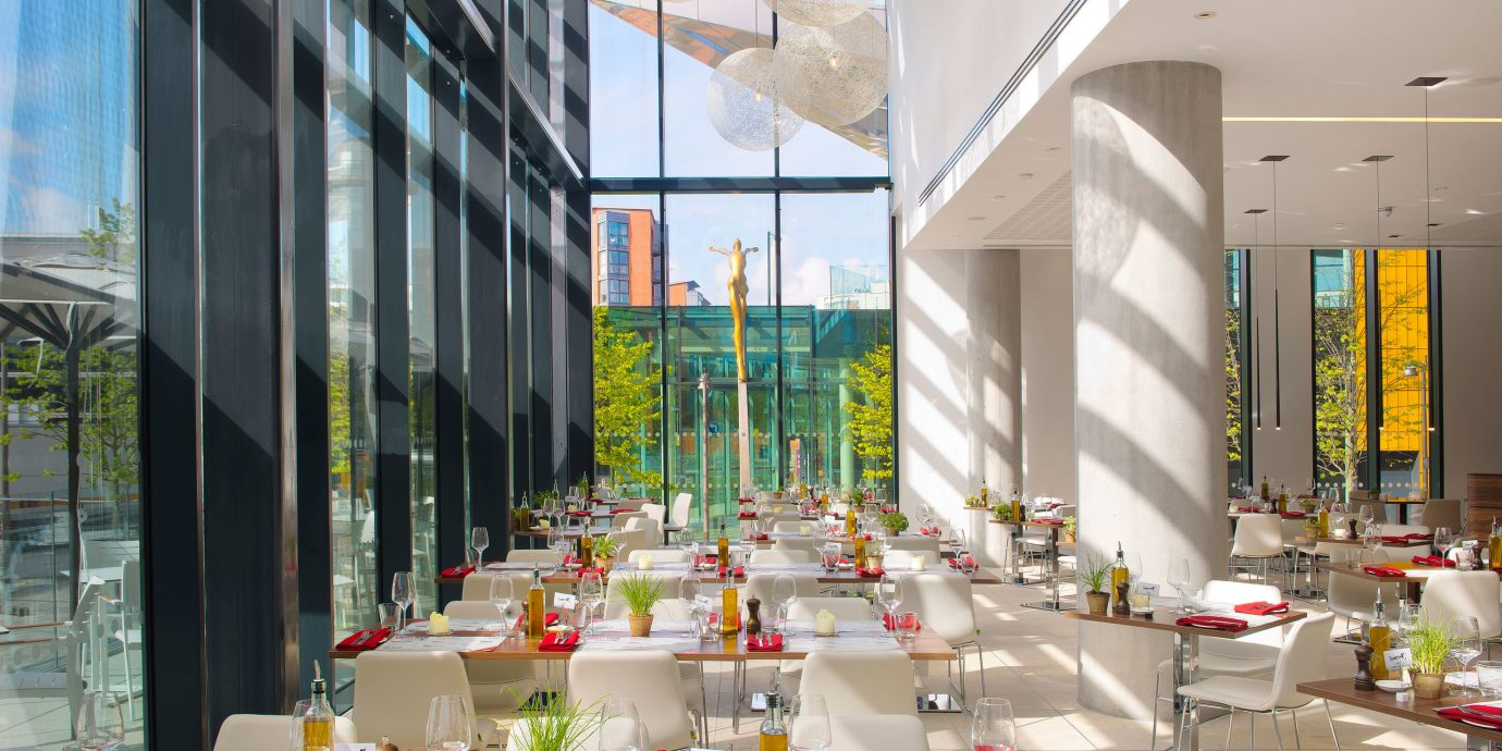 City Dining Drink Eat Modern aisle retail function hall shopping mall restaurant convention center Lobby