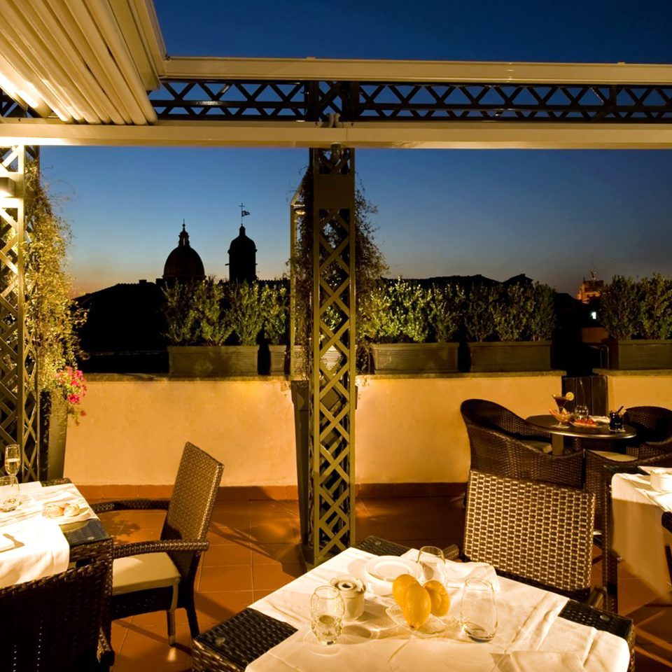 City Dining Eat Elegant Rooftop restaurant function hall Resort Villa