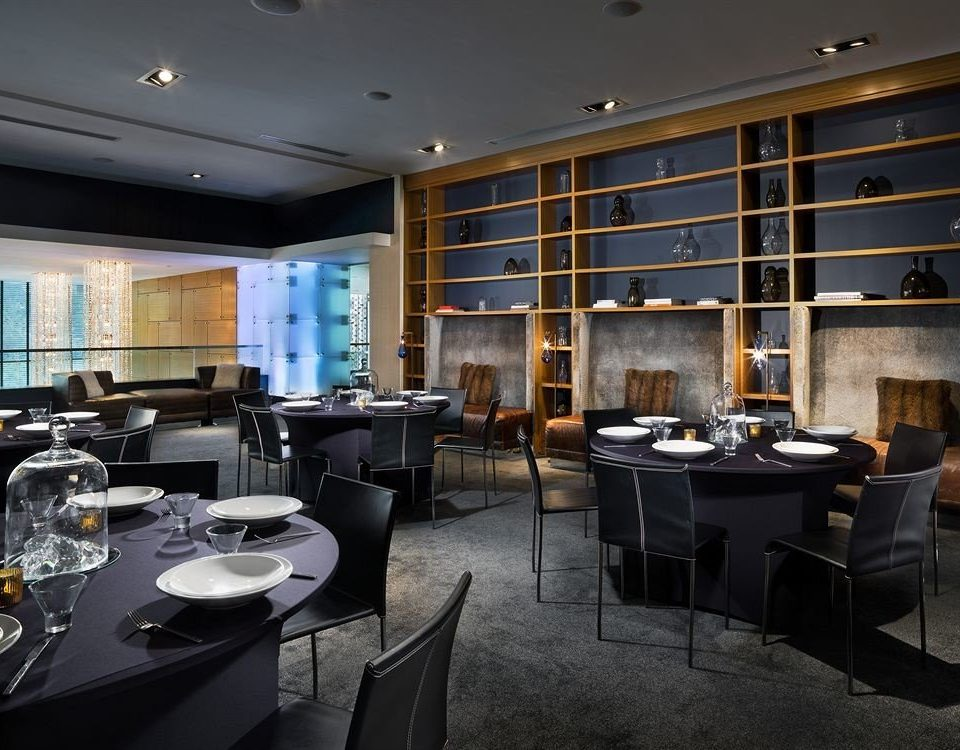 City Dining Modern property lighting restaurant living room