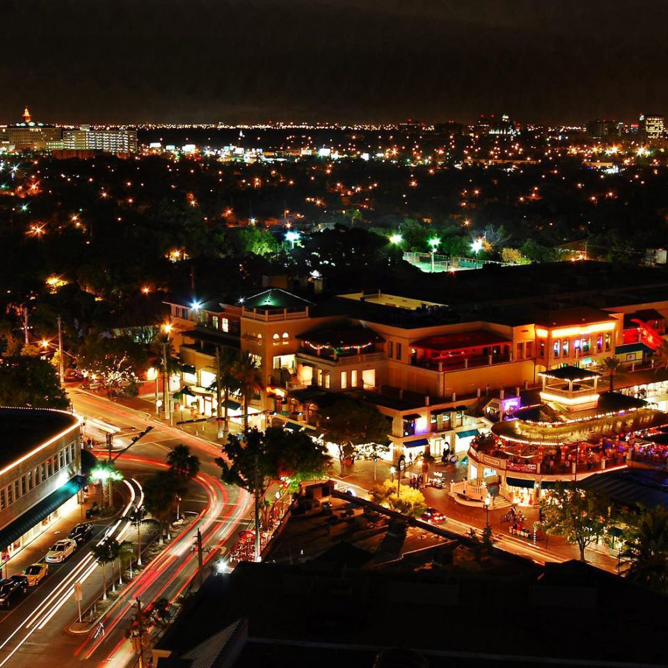metropolitan area night cityscape City metropolis evening skyline Downtown aerial photography light dusk highway