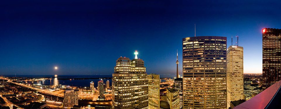 sky metropolitan area skyscraper metropolis skyline landmark cityscape night City building tower block horizon tower Downtown evening dusk