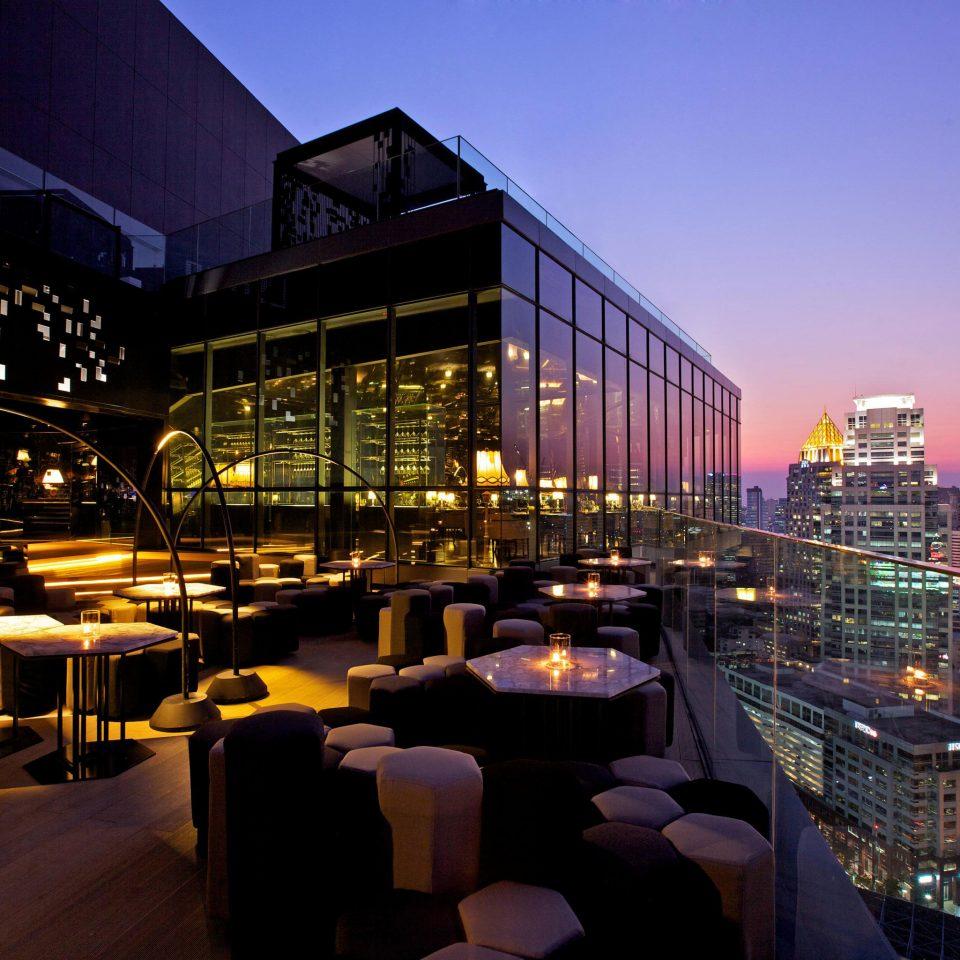 sky metropolitan area night City metropolis evening cityscape Downtown skyline