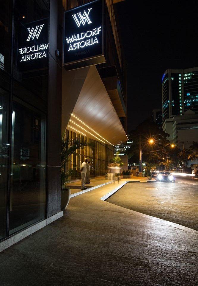 night road City light street Downtown evening lighting infrastructure shape cityscape