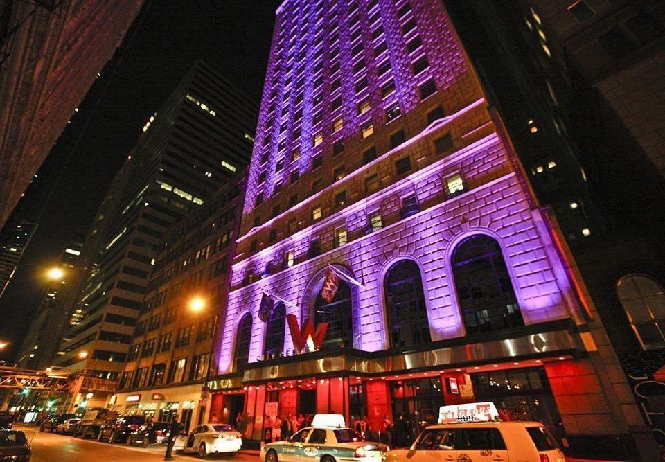 night City metropolis Downtown evening cityscape
