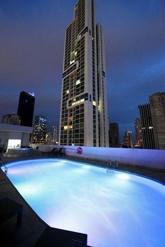 sky skyscraper night condominium City Downtown skyline tower block