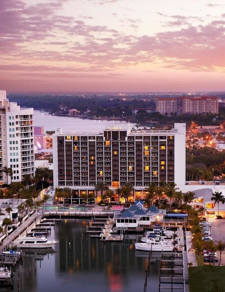 Exterior Grounds Sunset Waterfront sky building metropolitan area scene skyline cityscape City Harbor skyscraper horizon Downtown evening marina dock dusk morning tower block waterway